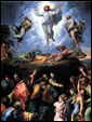 И, по прошествии дней шести, взял Иисус Петра, Иакова и Иоанна, и возвел на гору высокую особо их одних, и преобразился перед ними. Одежды Его сделались блистающими, весьма белыми, какснег, как на земле белильщик не может выбелить. И явился им Илия с Моисеем; и беседовали с Иисусом.
